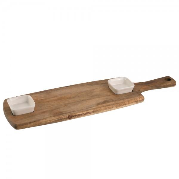 TAKAOKA Servier-Set mit Holzbrett und Schalen