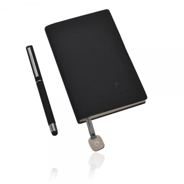 ARLAS Set aus Notizbuch A6 und Rollerball TouchPen, schwarz